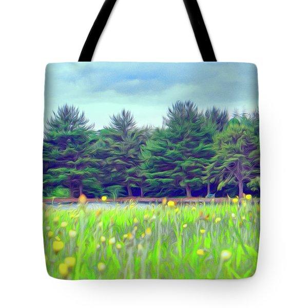 Evergreen Lake - Impressionism Tote Bag