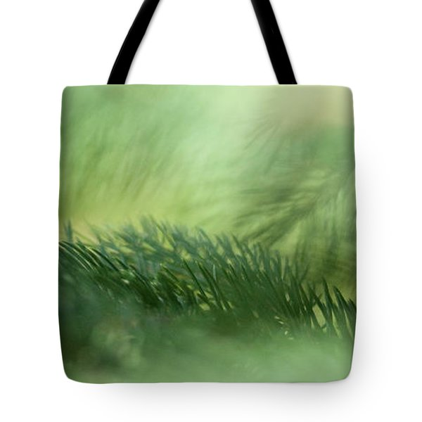 Tote Bag featuring the photograph Evergreen Mist by Ann Lauwers