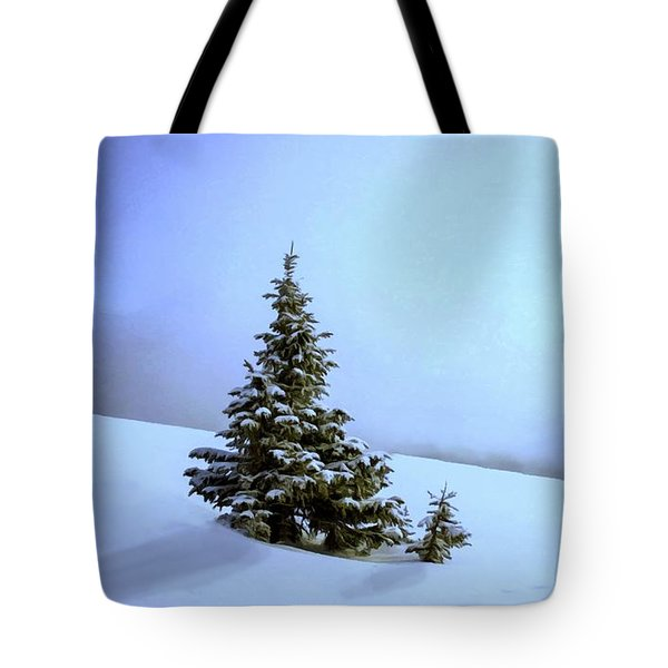 Tote Bag featuring the painting Evergreen Offspring P D P by David Dehner