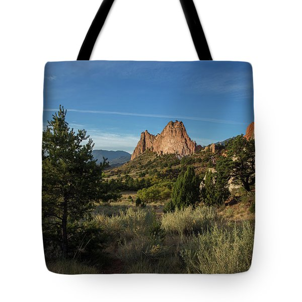 Evergreen Trees In The Garden Of The Gods Tote Bag
