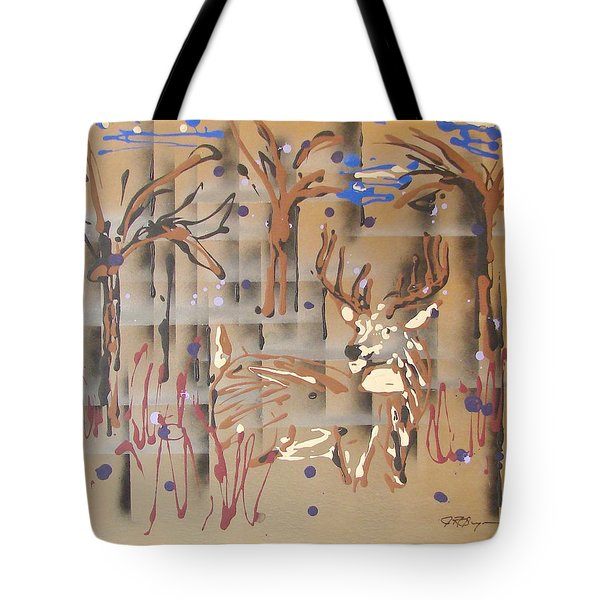 Tote Bag featuring the painting Everwatchful by J R Seymour