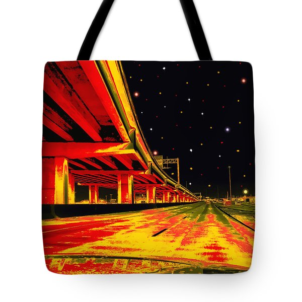 Tote Bag featuring the digital art Are We There Yet by Wendy J St Christopher