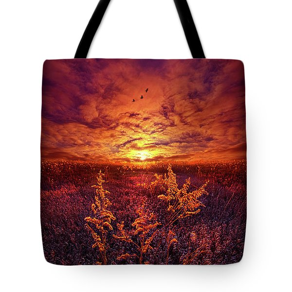 Tote Bag featuring the photograph Every Sound Returns To Silence by Phil Koch