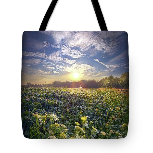 Tote Bag featuring the photograph Every Sunrise Needs Its Day by Phil Koch