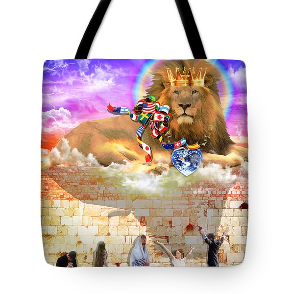 Tote Bag featuring the digital art Every Tribe Every Nation by Dolores Develde