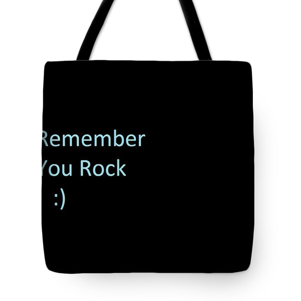 Tote Bag featuring the photograph Everyday Remember This by Aaron Martens