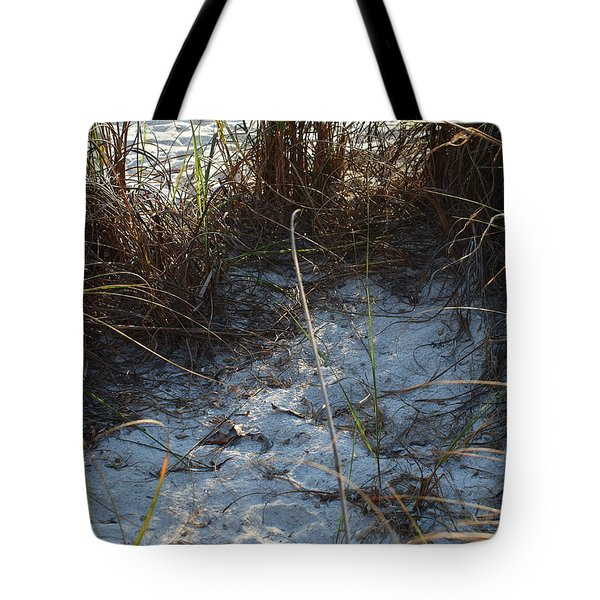 Tote Bag featuring the photograph Everything Grows In The Sand by Robert Margetts