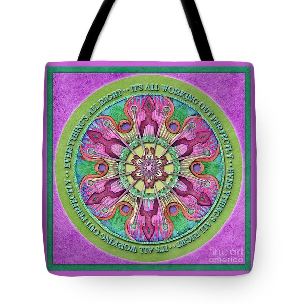Everything's All Right Mandala Prayer Tote Bag
