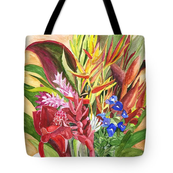 Tote Bag featuring the painting Everywhere There Were Flowers by Eric Samuelson
