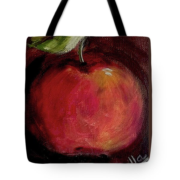 Tote Bag featuring the painting Eve's Apple.. by Jolanta Anna Karolska