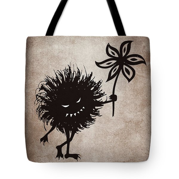 Evil Bug Gives Flower Tote Bag