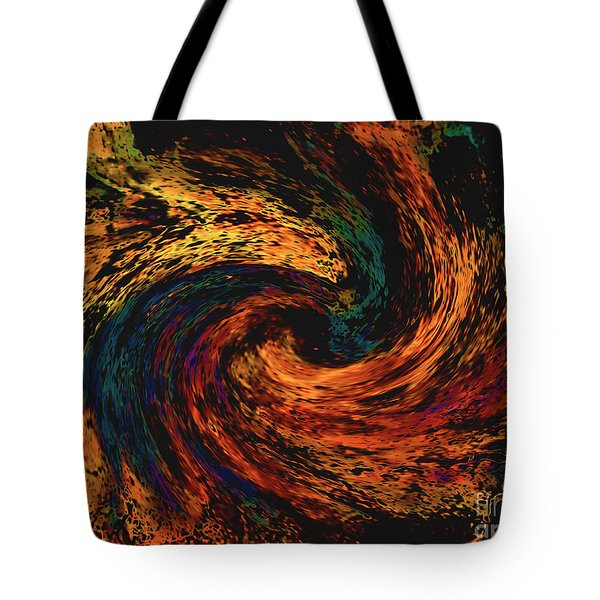 Tote Bag featuring the digital art Collision Of Evil Forces by Merton Allen