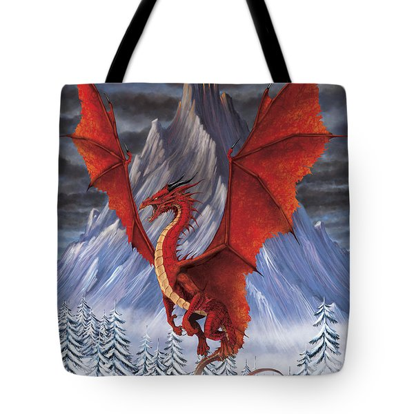 Evil Red Dragon Tote Bag