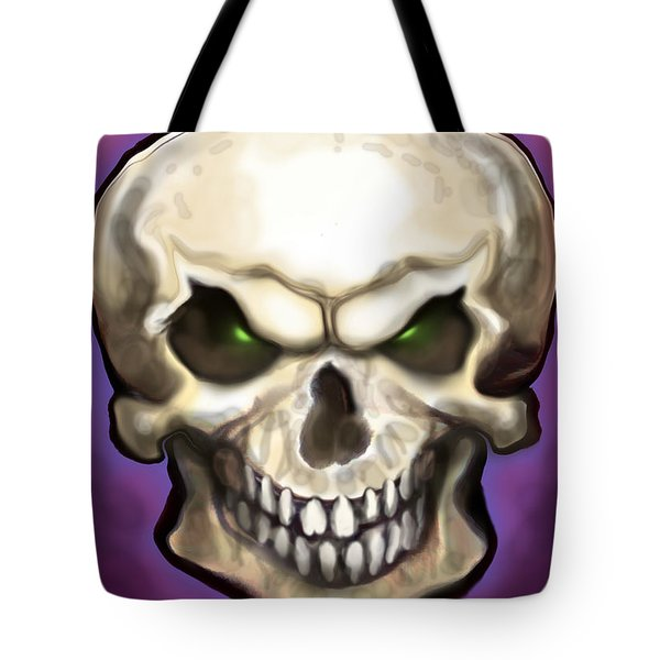 Evil Skull Tote Bag by Kevin Middleton