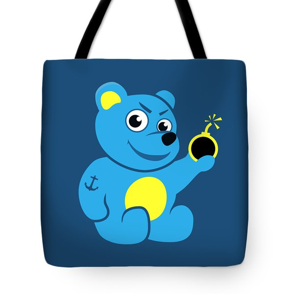 Evil Tattooed Teddy Bear Tote Bag