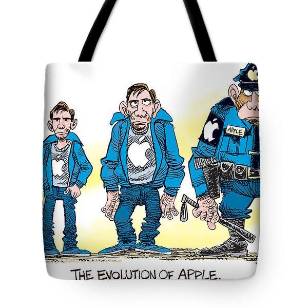 Evolution Of Apple Tote Bag