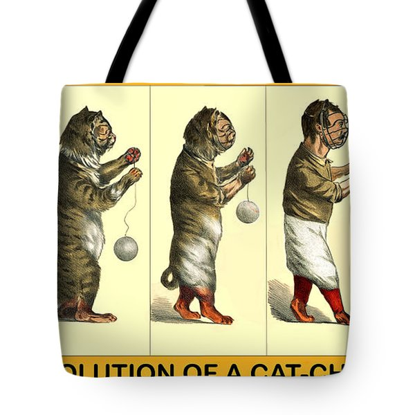 Evolution Of A Cat-cher Tote Bag
