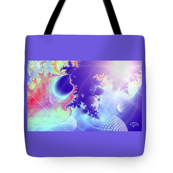 Tote Bag featuring the digital art Evolving Universe by Ute Posegga-Rudel