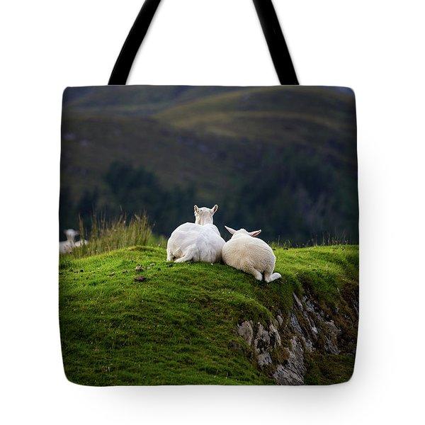 Ewe And Me Tote Bag