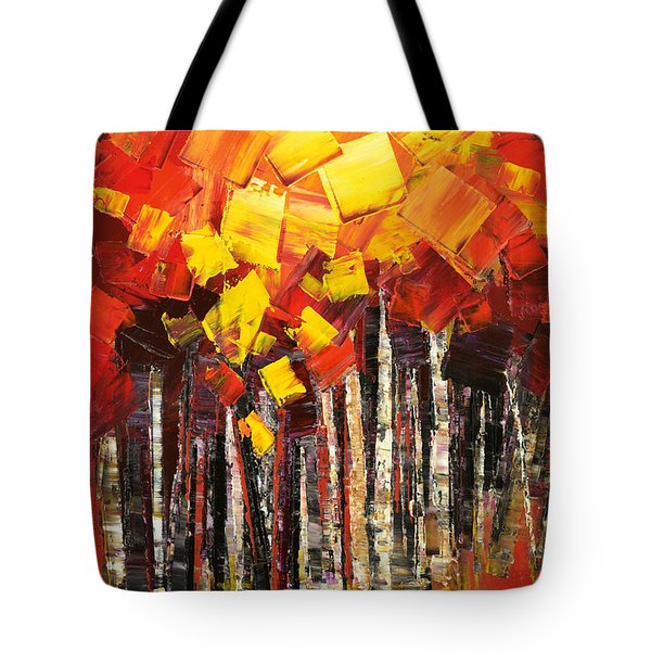 Tote Bag featuring the painting Exaltant by Tatiana Iliina