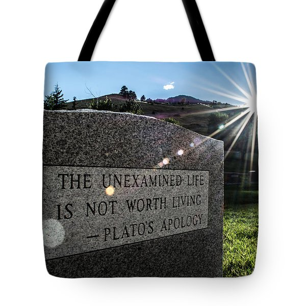 Examined Life Color Tote Bag