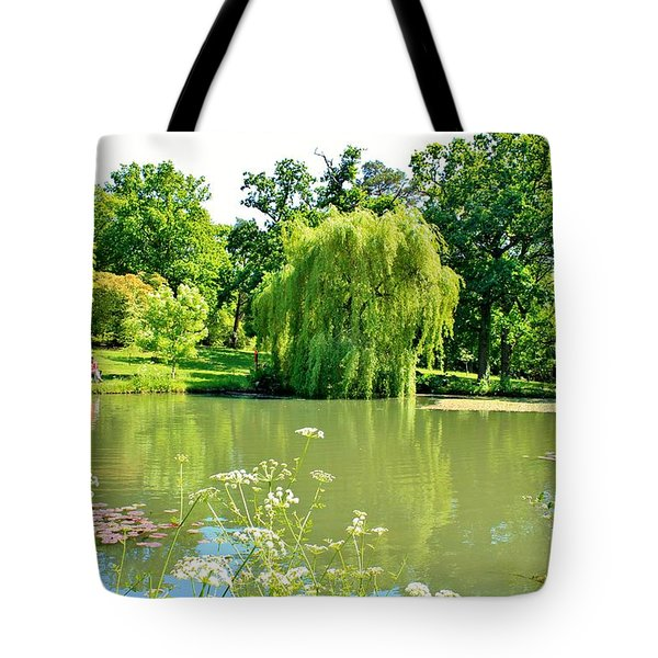 Exbury Garden Tote Bag by Katy Mei