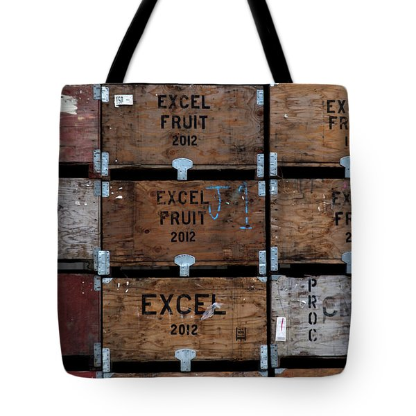 Tote Bag featuring the photograph Excel Fruit by Lora Lee Chapman