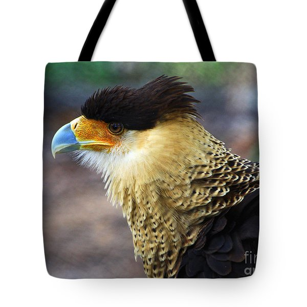 Excited Caracara Tote Bag by Larry Nieland