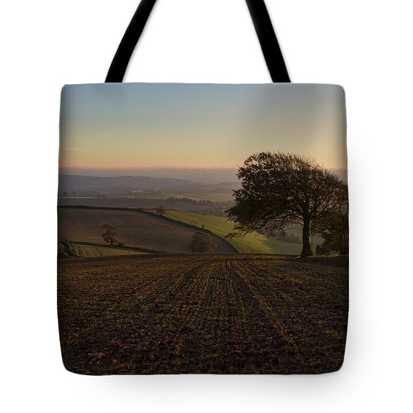 Exe Valley From Bidwell Cross Tote Bag