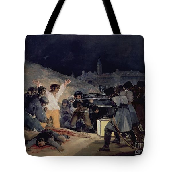 Execution Of The Defenders Of Madrid Tote Bag by Goya