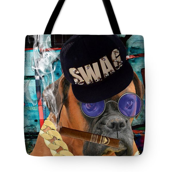 Tote Bag featuring the mixed media Executive by Marvin Blaine