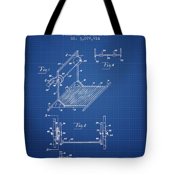 Exercise Machine Patent From 1961 - Blueprint Tote Bag