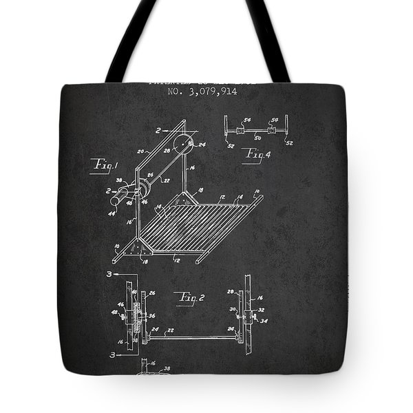 Exercise Machine Patent From 1961 - Charcoal Tote Bag