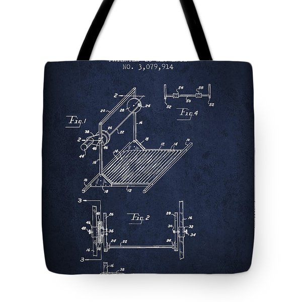 Exercise Machine Patent From 1961 - Navy Blue Tote Bag