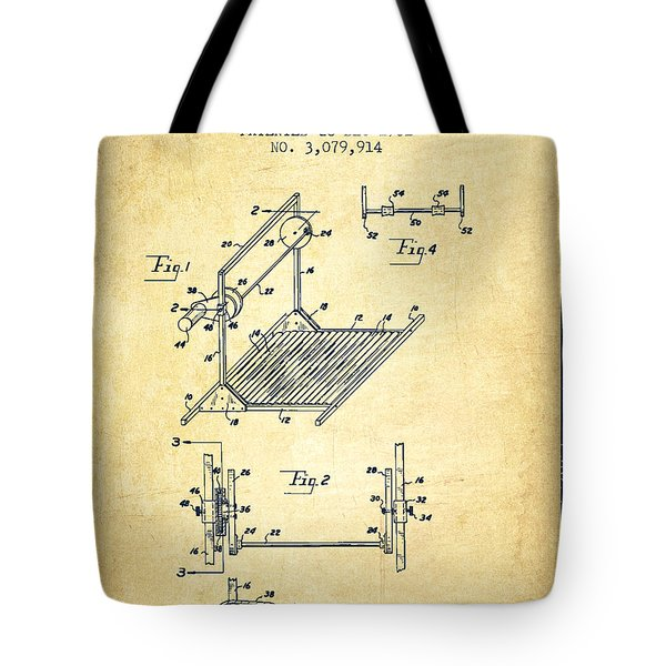 Exercise Machine Patent From 1961 - Vintage Tote Bag