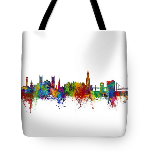 Exeter England Skyline Tote Bag