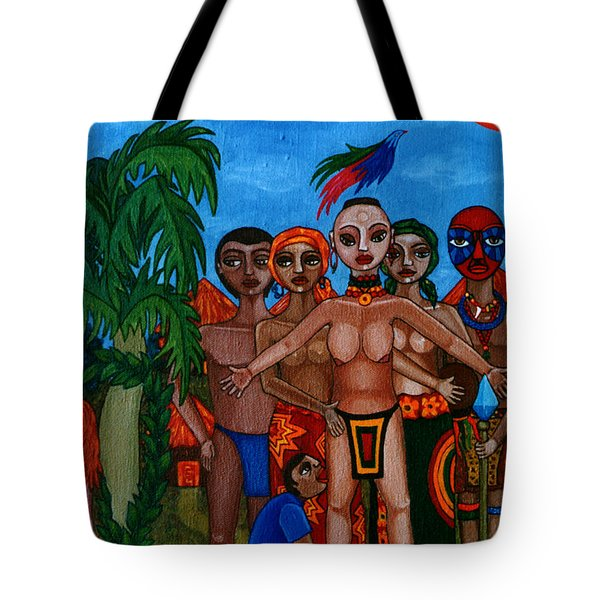 Exiled In Homeland Tote Bag by Madalena Lobao-Tello