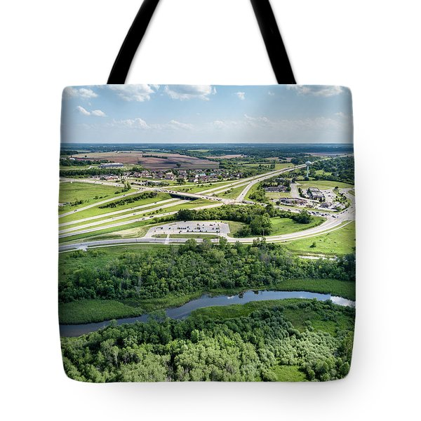 Tote Bag featuring the photograph Exit 43 by Randy Scherkenbach