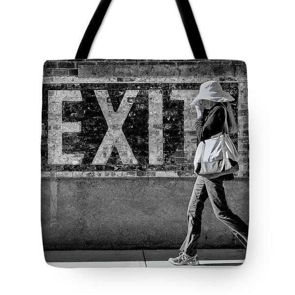 Exit Bw Tote Bag