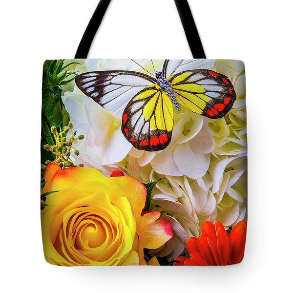 Exotic Beauty On Bouquet Tote Bag