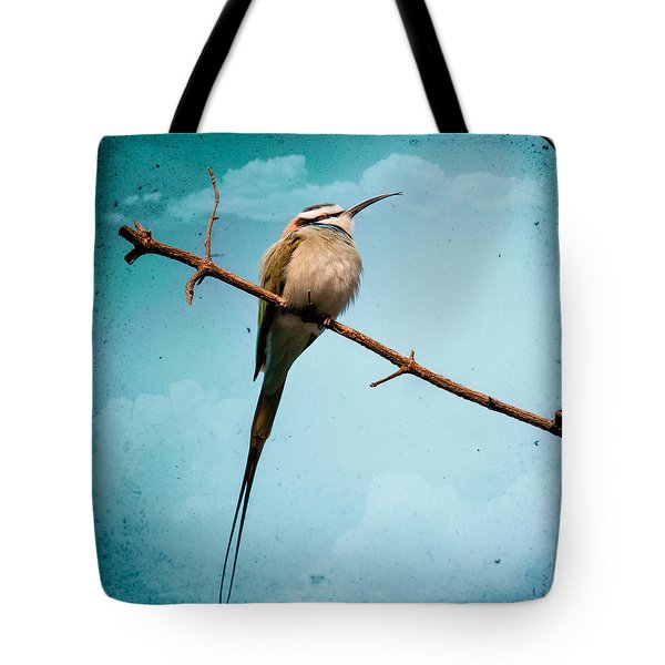 Exotic Birds - White Throated Bee Eater Tote Bag