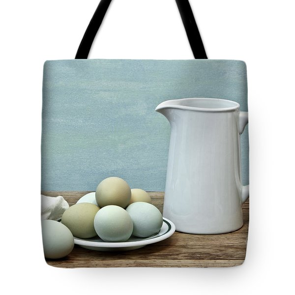 Exotic Colored Eggs With Pitcher Tote Bag