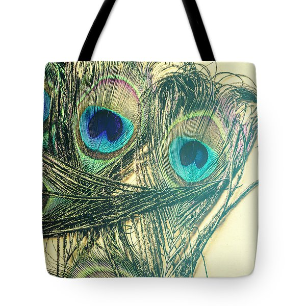 Exotic Eye Of The Peacock Tote Bag