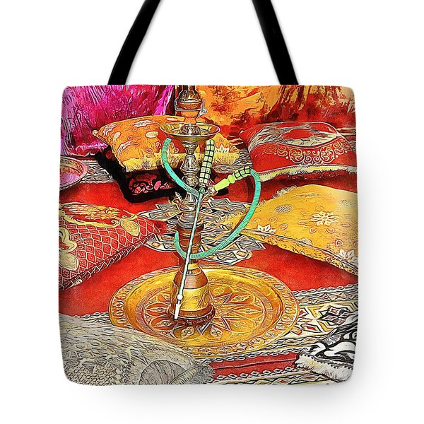 Exotic Oriental Hookah Pipe 2 Tote Bag