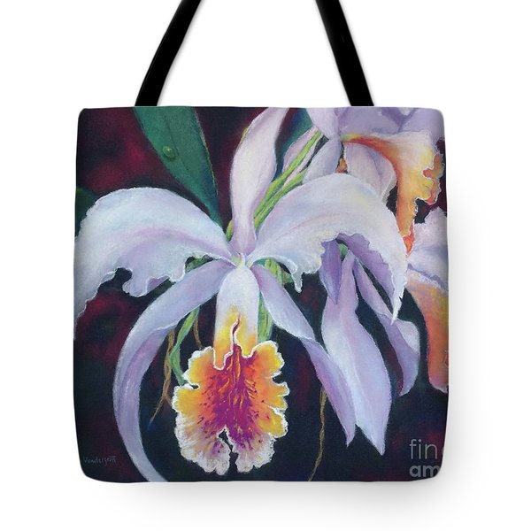 Exotic White Orchid Tote Bag