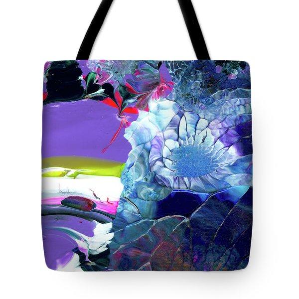 Exotic White Rose Island Tote Bag