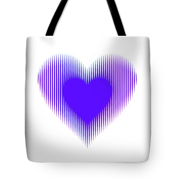 Expanding - Shrinking Heart Tote Bag
