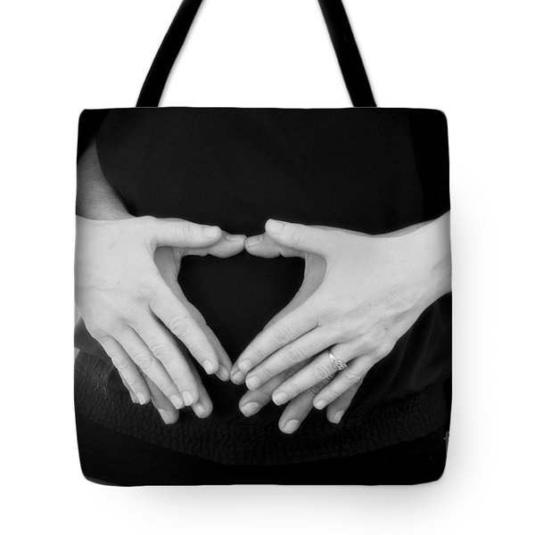 Expecting Love Tote Bag by Peggy Hughes