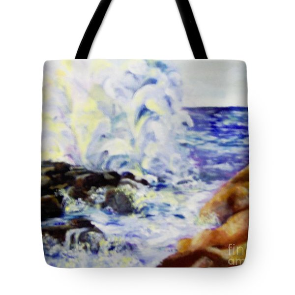 Tote Bag featuring the painting Explode by Saundra Johnson