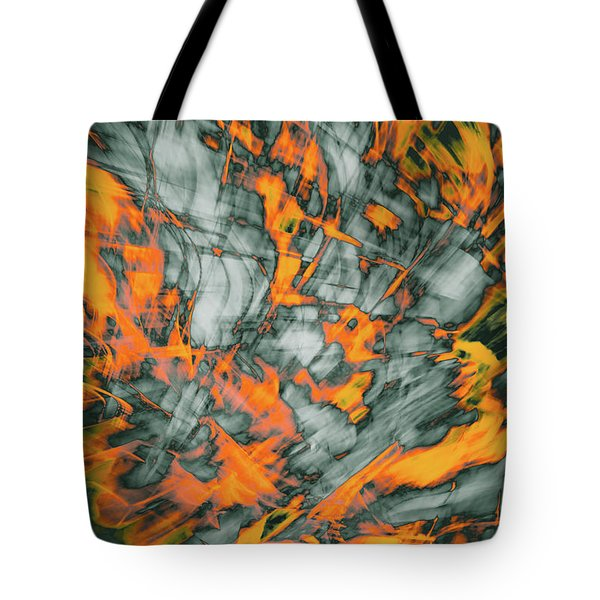Exploded Fall Leaf Abstract Tote Bag